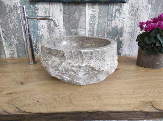 Grey marble washbasin
