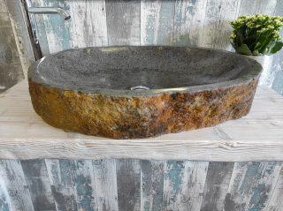 Natural stone washbasin